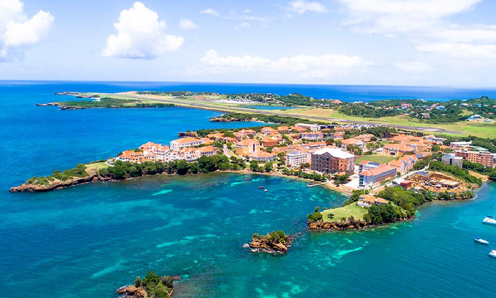 Aerial view of St. George's University Grenada