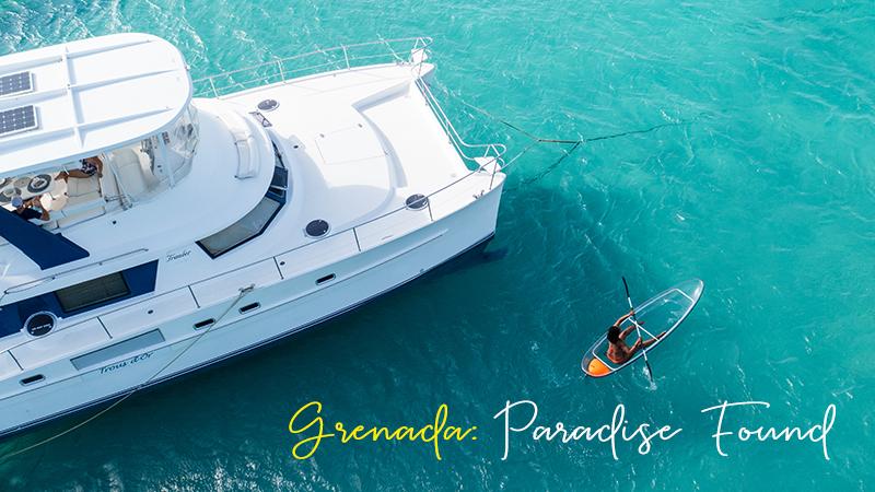 girl kayaks in clear bottom kayak in Grenada'